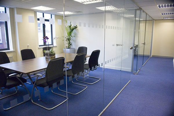 Recently completed Glazed partitions